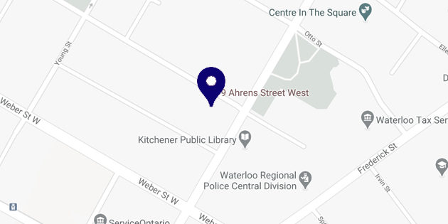 Map of Waterloo Region